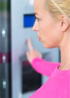 choosing vending snack