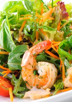 fresh salad with shrimp