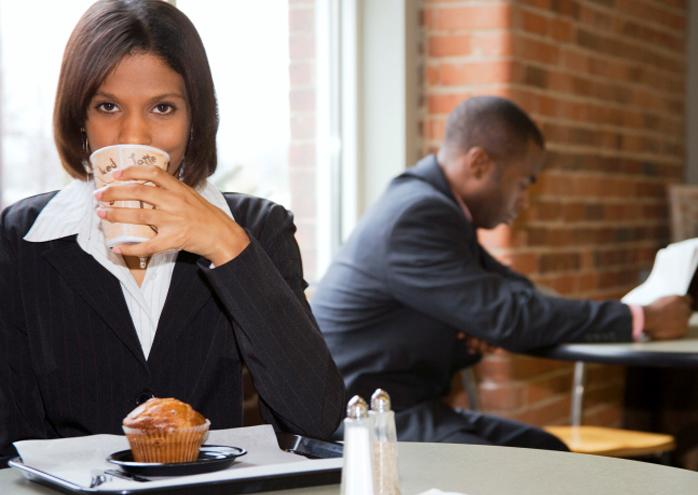 executive enjoying Route 66® coffee