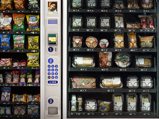 wide range of vending choices
